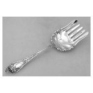 Cherub Fish Serving Fork Watson Sterling Silver 1895 No Monogram