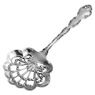 Strasbourg Candy Or Nut Spoon Sterling Silver Gorham 1897