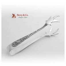 Bridal Bouquet Ice Tongs Sterling Silver Alvin 1932