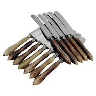 Dinner Knifes Steel Natural Materials 12 Pieces Perry Co 1910