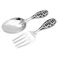 Openwork Baby Flatware Set Sterling Silver 2 Pieces 1920