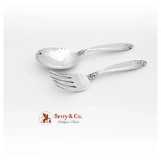 Prelude Baby Set Sterling Silver 2 Pieces International 1939