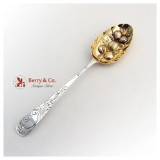 Ornate Repousse Georgian Tablespoon Sterling Silver John Langlands John Robertson 1785