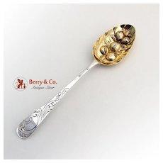 Ornate Repousse Georgian Tablespoon Sterling Silver John Langlands John Robertson 1785