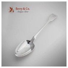 Georgian Fiddle Stuffing Spoon Sterling Silver TH 1823