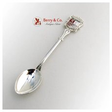Spanish Demitasse Souvenir Spoon 915 Silver Enamel Coat of Arms