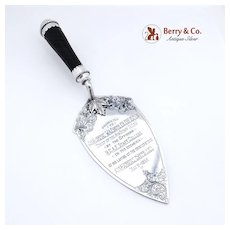 Presentation Trowel Royal Canadian Air Force Sterling Silver Birks Silversmiths 1952