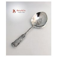 St Cloud Berry Spoon Large Bowl Gorham 1885 Sterling Silver