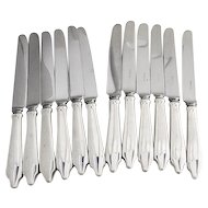Clinton Set of 12 Knives Sterling Silver Tiffany and Co 1912