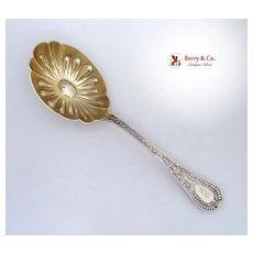Gipsy Berry Spoon Shiebler 1881 Sterling Silver Monogram GK