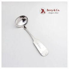 Vintage Sauce Ladle Inscribed Adeline Newell Matson Coin Silver 1850