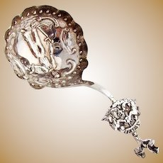 Dutch Monkey Spoon Figural Bowl Cupid Finial 833 Silver 1891 Date Mark