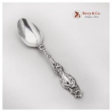 Lily Teaspoon Whiting Mfg Co Sterling Silver Pat 1902 No Mono