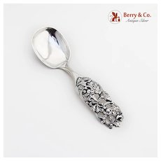 Foliate Scroll Openwork Berry Spoon 830 Standard Silver 1950 Norway