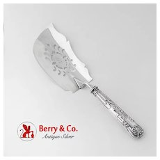 Kings Fish Slice Pierced Blade Hall Hewson Coin Silver 1820 Monogram