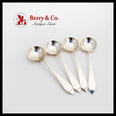 Faneuil Bouillon Soup Spoons Set Tiffany Co Sterling Silver 1910