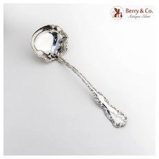 Louis XV Oyster Ladle Whiting Mfg Co Sterling Silver Pat 1891 Monogram