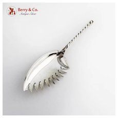 Twist Macaroni Server Dominick Haff Sterling Silver 1880