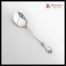 Wild Rose Jelly Spoon International Sterling Silver 1948 No Mono