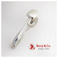 Faneuil Large Ice Tongs Claw Tips Tiffany Co Sterling Silver 1910