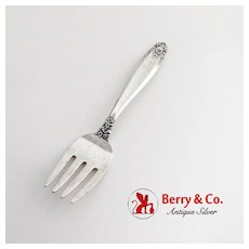 Prelude Baby Fork International Sterling Silver 1939 No Mono