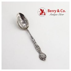 California Souvenir Spoon Embossed Bowl Joseph Mayer Sterling Silver