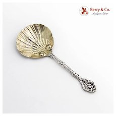 Versailles Bon Bon Candy Nut Spoon Gilt Shell Bowl Gorham Sterling Silver