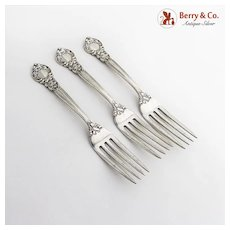 Royal Oak Dinner Forks Set Gorham Sterling Silver Pat 1902 No Mono