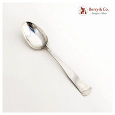 Scandinavian Tablespoon 830 Standard Silver Late 18 Early 19 Century