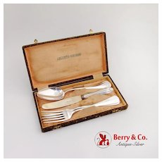Vintage Boxed Flatware Set 2 Spoons 2 Forks 1 Knife 800 Silver