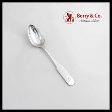 Antique Scottish Table Spoon Sterling Silver Edinburgh 1807