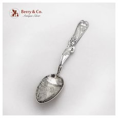 Vintage Niagara Falls Souvenir Spoon Indian Handle Sterling Silver Howard 1920