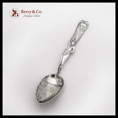 Vintage Niagara Falls Souvenir Spoon Indian Handle Sterling Silver Howard 1920