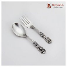 Francis I Baby Flatware Set Spoon Fork Reed and Barton Old Mark Sterling
