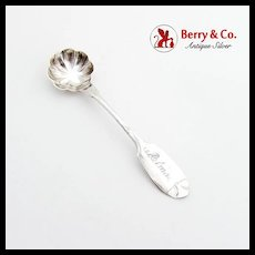 American Coin Silver Salt Spoon Eagle H Star 1870