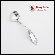 Olive Gravy Ladle Coin Silver R A Tibbets 1860