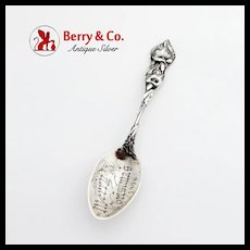 Cala Lily Teaspoon Watson Sterling Silver Merry Christmas Inscription 1906