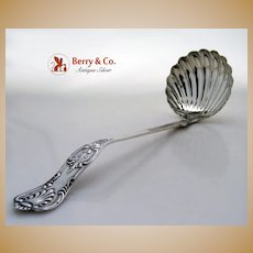 Kings Soup Ladle Krider Biddle 1865 Coin Silver No Monogram