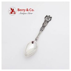 Honolulu Souvenir Spoon Sterling Silver 1900