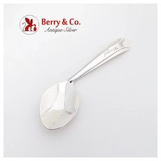 Invalid Feeding Spoon Sterling Silver Monogrammed Nancy c.1930