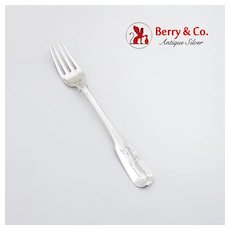 Chinese Export Silver Fork Canton 1830-1880