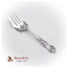 Moselle Cold Meat Fork International Silver Co Silverplate 1906