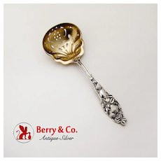 Strawberry Sugar Sifter Ladle Sterling Silver Watson