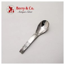 North West Totem Pole Egg Spoon Sterling Silver