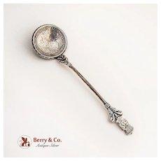 Spanish Coin Bowl Spoon Coin Silver 1892 5 Pesetas