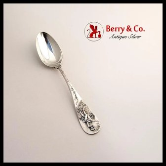 Lexington Souvenir Spoon Sterling Silver D. Low and Co 1900