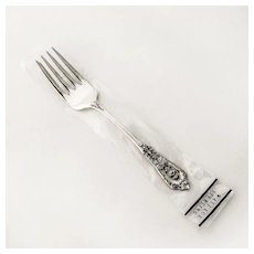 Rose Point Salad Fork Sterling Silver Wallace 1934