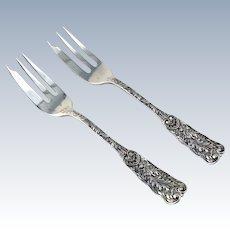 Saint Cloud Pastry Forks 2 Sterling Silver Gorham 1885