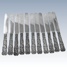 Saint Cloud Breakfast Knives Set of 11 Sterling Silver Gorham Silversmiths 1885