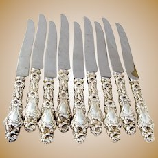 Lily 9 Regular Knives 9 Sterling Silver Whiting